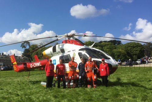 Cornwall Air Ambulance Trust Crew and volunteers at the Aston Martin Owners Club Autumn Conocurs Boconnoc House 170917. Credit Nikki Wright 2