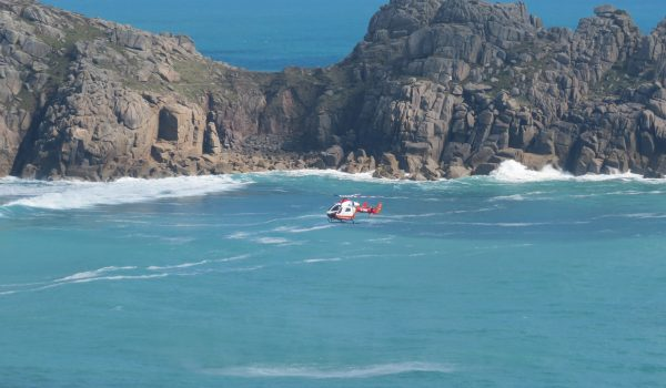 Porthcurno paraglider accident April 16