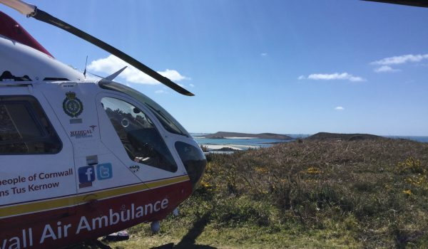 Tresco April 16 lady injured leg RCHT