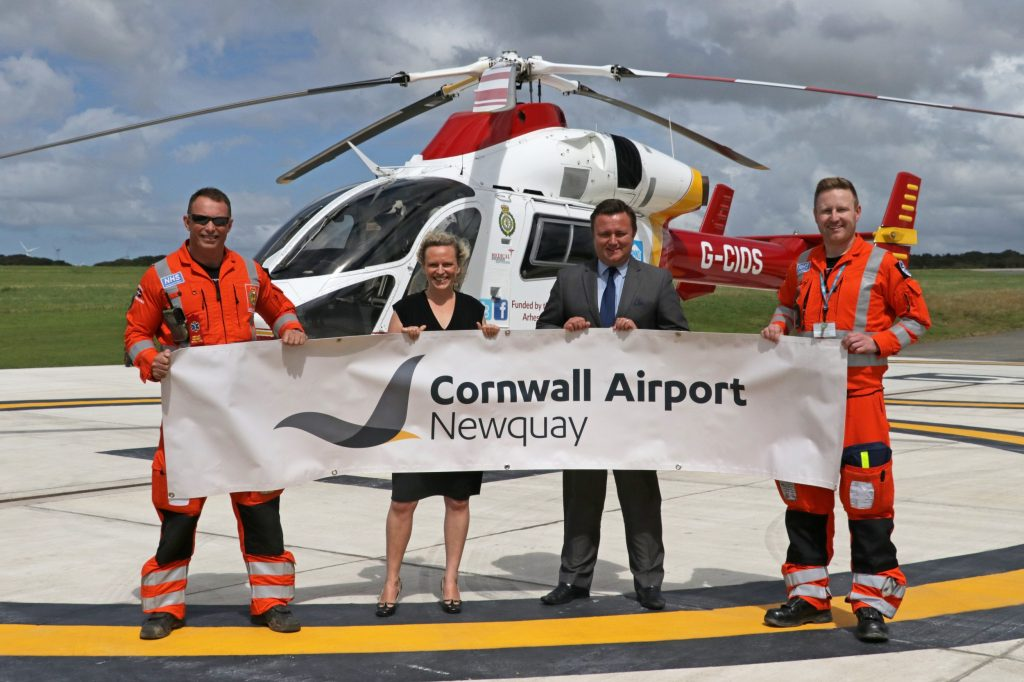 Airport names Cornwall Air Ambulance as charity of the year